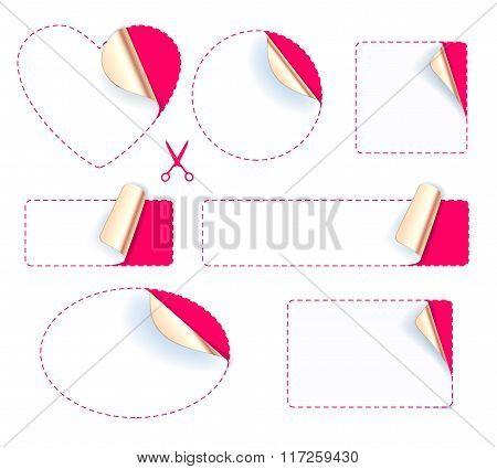 Set of stickers - golden foil reverse side.