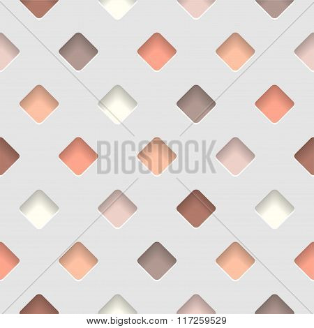 seamless pattern - terracotta rhombus