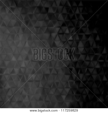 black geometrical background -  triangles