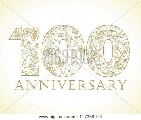 100 anniversary vintage gold