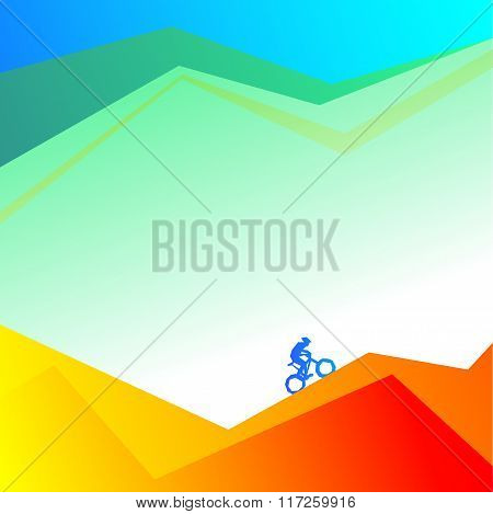 cyclist on a mountain road