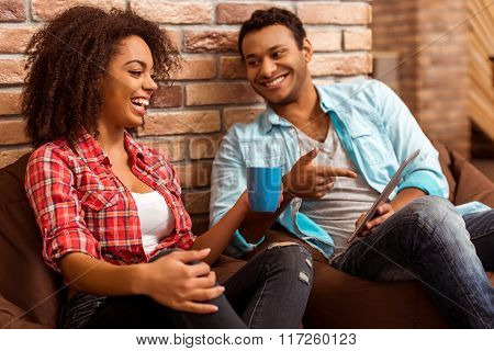 Attractive Afro-american Couple