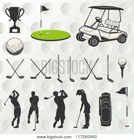 Golf Player Silhouette