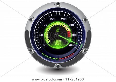 Vector illuminated speedometer