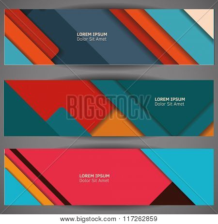 Material design backgrounds. Vector Illustration. Abstaract design template.