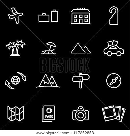 Vector Line Travel Icon Set
