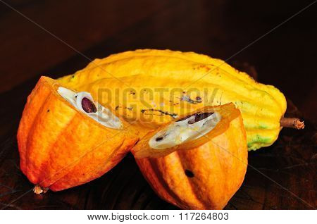 Cocoa Fruit Sliced