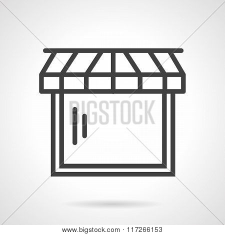 Web store black line vector icon