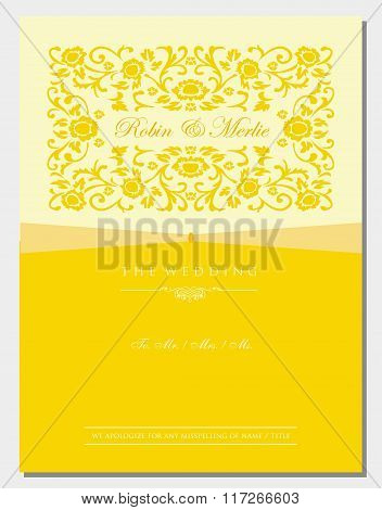 Gold Floral Invitation Cover