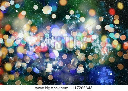 Abstract Festive Background. Glitter Vintage Lights Background