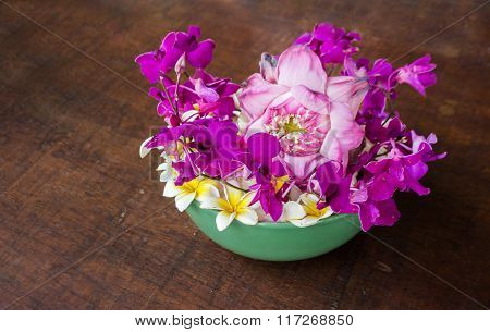 Mix Flower Jasmine ,frangipani,orchid