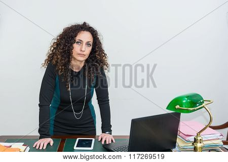 Mature Woman Modern Use The Tablet.