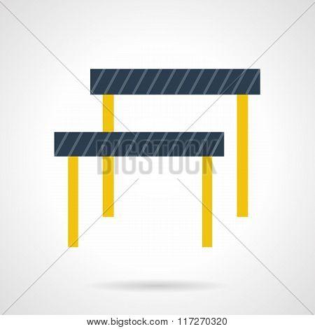 Hurdles flat color vector icon