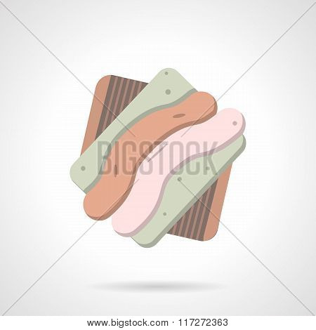 Tasty cookie flat color vector icon