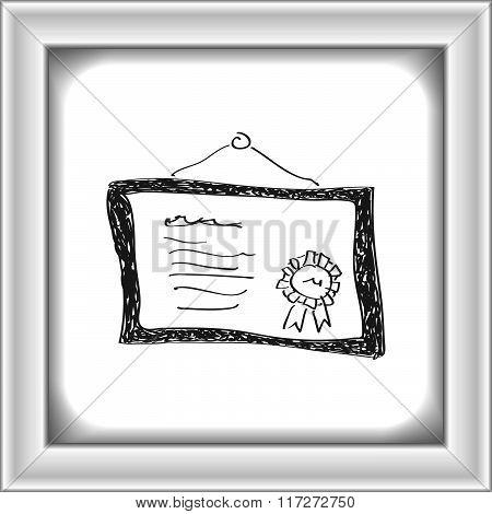 Simple Doodle Of A Certificate