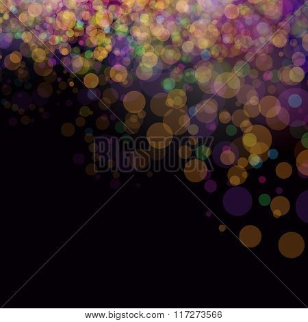 Colorful bokeh background. Vector illustration