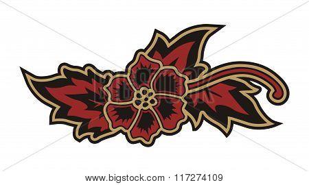 LEAF RED BATIK INDONESIAN