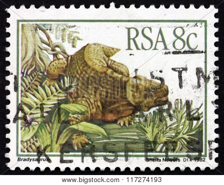 Postage Stamp South Africa 1982 Bradysaurus, Prehistoric Animal