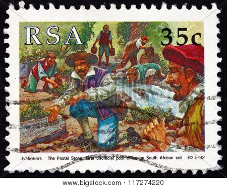 Postage Stamp South Africa 1992 Sailors Discovering Postal Stone
