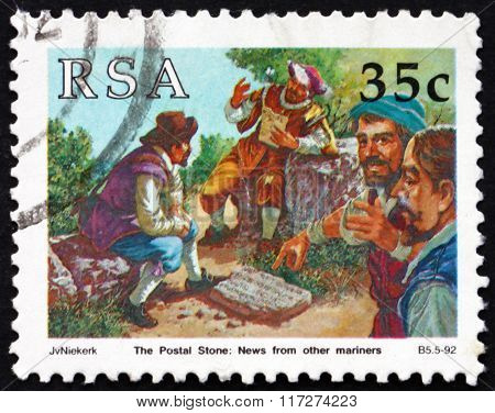 Postage Stamp South Africa 1992 Reading News From Other Mariners