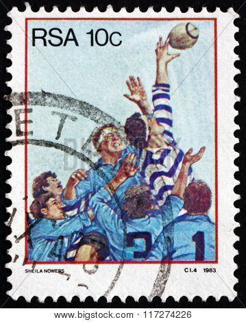 Postage Stamp South Africa 1983 Rugby, Team Sport