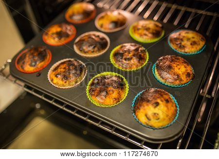 muffins on a baking tray