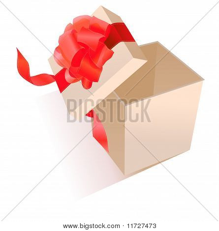 Realistic giftbox with bow