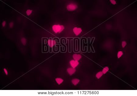 Pink hearts texture.