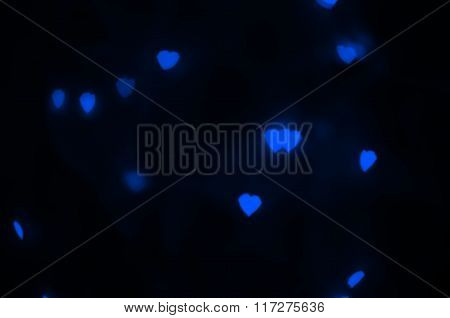 Blue hearts texture.