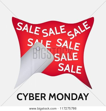 Cyber monday background with smartphone