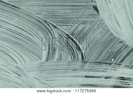 White Paint Layer On Glass