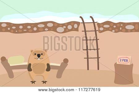 Groundhog Day illustration