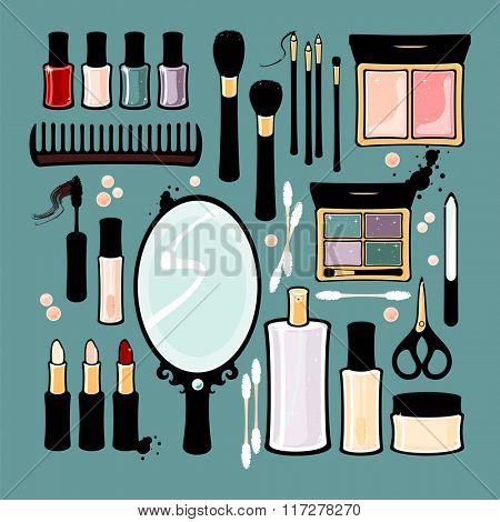 Beauty items (raster version)