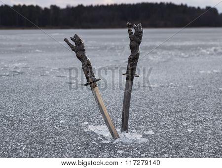 Knives In Ice
