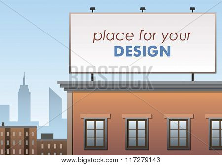 Billboard, place for advertising, billboard on the building, place for your design