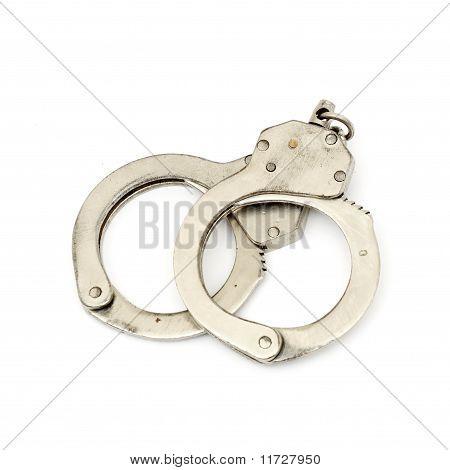 steel metallic handcuffs