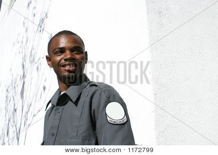 Cheerful Security Gaurd Copy