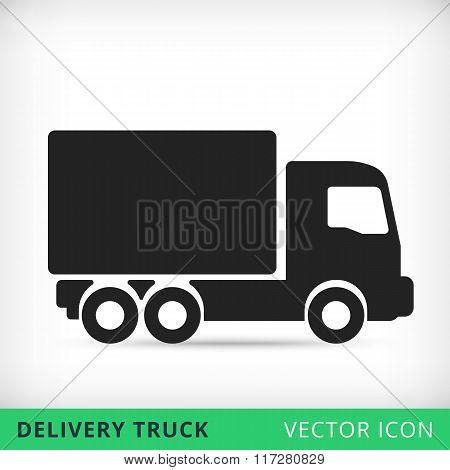 Truck flat vector icon