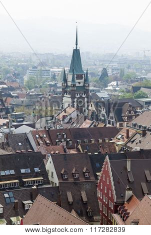 Skyline Of Freiburg Im Breisgau City, Germany