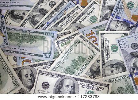 Money background. Dollars
