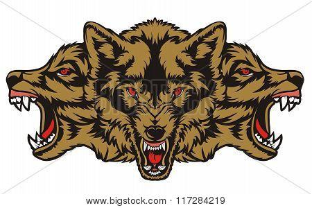 three wolf angry