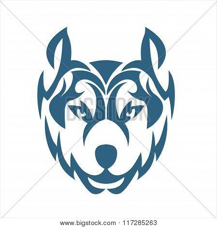 WOLF TRIBAL BLUE