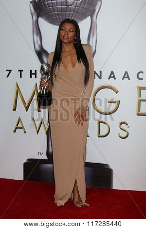 LOS ANGELES - FEB 5:  Taraji P. Henson at the 47TH NAACP Image Awards Press Room at the Pasadena Civic Auditorium on February 5, 2016 in Pasadena, CA