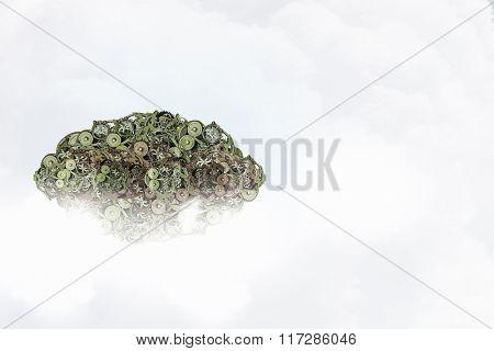 Gears green tree