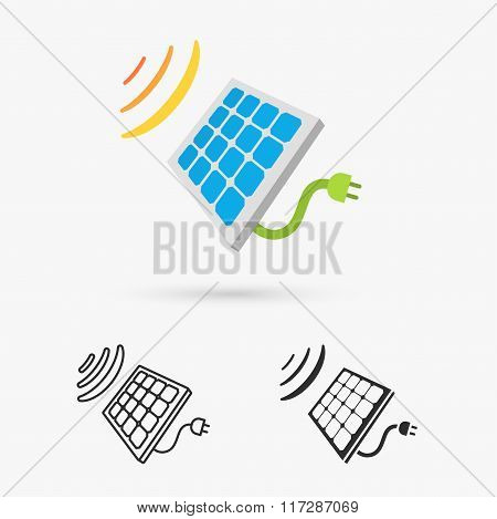 sixteen flat eco icons