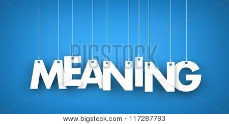Meaning - word hanging on the ropes