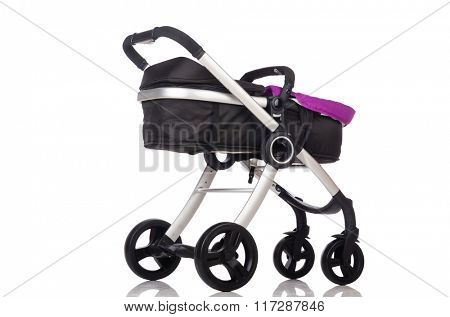 Child pram isolated on the white background