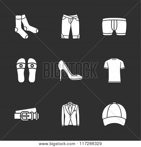 nine modern clothes icons