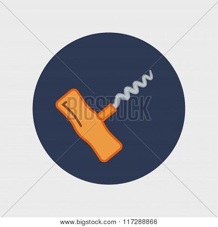 corkscrew sign icon