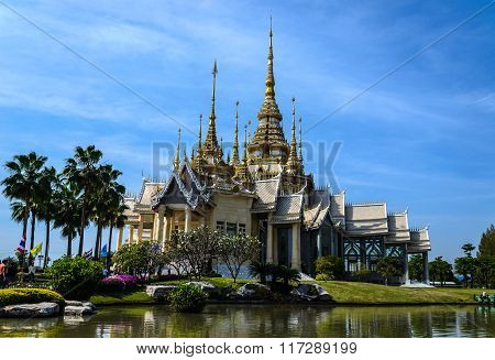 Temple And Blue Sky In Thaialnd